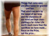 Focus on the Prize, not the Price