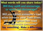 What Words Will You Share Today?